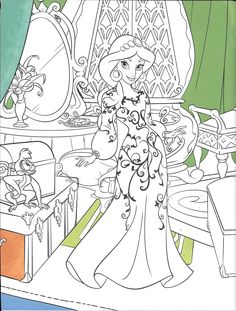 Blank Coloring Pages, Disney Coloring Pages, Coloring For Kids, Coloring Sheets, Coloring Books, Princess Illustration, Disney Paintings, Princess Coloring, Doodle Coloring