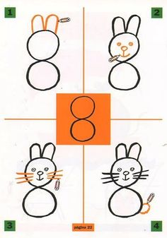 Drawing with numbers for kids Drawing animals with numbers Drawing with numbers free activities Drawing Lessons For Kids, Easy Drawings For Kids, Art Lessons, Art For Kids, Animal Drawings, Cute Drawings, Toddler Drawing, Kindergarten Drawing, Alphabet Drawing