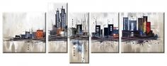 Города, Модульная картина «Современный город»