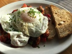 Wilf & Ada's Autumn Hash:  A trio of roasted root vegetables—beets, squash and yams—tossed with caramelized onions, some crumbled sausage and Parmesan. The mélange was topped with two eggs and a side of toast. An unfussy breakfast, yet beautifully articulated and belly-filling.