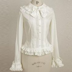 plus size spring summer women tops long sleeve lace sweet vintage white gothic lolita blouse cosplay costume female shirts-in Blouses & Shirts from Women's Clothing & Accessories on Aliexpress.com | Alibaba Group