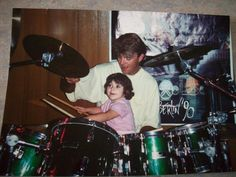 My first drumming experience. :)