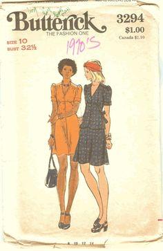 Butterick 3294 Dress,Top