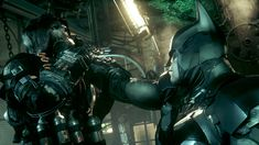 Batman: Arkham Knight, interrogating Scarecrow in the mixing chamber in Ace Chemicals. Batman Arkham Knight Game, Batman Arkham Series, Batman Vs, Jonathan Crane, Arte Cyberpunk, Inner Demons, Mythical Creatures Art, Dc Comic Books, Story Arc