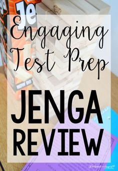 Engage students with test prep with JENGA test prep review. This post shares how to use for engaging test prep review. Free printable directions included.