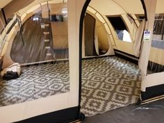 Caravan Makeover 766878642773603023 - Obelink Patio/RV Teppich 290 x 250 cm Grau Bell Tent Camping, Camping Glamping, Camping Life, Camping Hacks, Camping Ideas, Airstream, Shower Tent, Tent Living, Caravan Makeover