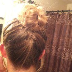 French braided up; braided bun!