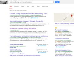 "Infront Webworks client Ecofoam ranking first page of Google under term ""Colorado Springs Insulation Companies""."