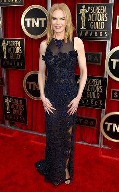 Nicole Kidman dazzled in Vivienne Westwood at the SAG Awards tonight.