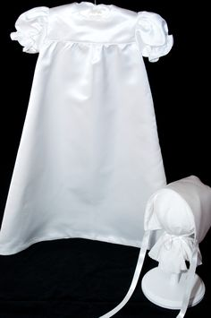Repurposed wedding dress made into Baptismal gown.  Made by:  Patti Lynch, PJsProductions.  contact: pjsproductions.lynch@gmail.com