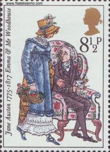 Jane Austen - -- The philately British gave a nice collection of… Emma Austen, Jane Austen Novels, Elizabeth Gaskell, Charlotte Bronte, Regency Fashion, Becoming Jane, Postage Stamp Art, Going Postal, First Day Covers