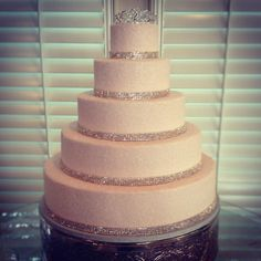 Princess Wedding Cake, Rhinestone Wedding Cake, Glitter Wedding Cake, Pink Wedding Cake