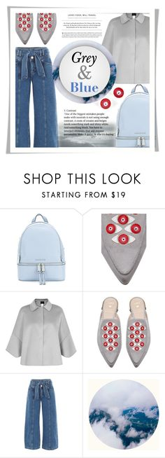 """""""Grey & Blue"""" by elisapar ❤ liked on Polyvore featuring MICHAEL Michael Kors, Stuart Weitzman and Emporio Armani"""
