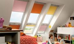 VELUX roof windows & skylights with shades to add privacy at night. Talk to your Millard Lumber professional today to find out how you can add a Velux skylight or roof window to your home. Small Attic Room, Small Attics, Attic Rooms, Attic Spaces, Attic Bathroom, Bathroom Kids, Loft Playroom, Loft Room, Bedroom Loft