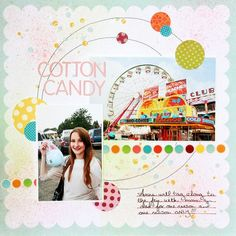 Two photo layout Cotton Candy