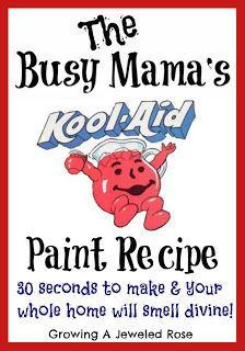 Kool-Aid Paint - easy and cheap!-good idea to put in muffin tins..