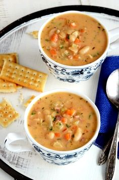 White Bean Chowder (serve with orange cinnamon rolls...yum)