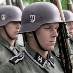 the_ww2_memoirs Pictured above Waffen SS soldiers of the Latvian Legion on parade in combat clothing somewhere on the Eastern Front, 1944. The Latvian Legion was one of the more famous Waffen SS units since their ferocity and skill was incredible. Latvia and Estonia saw some of the most intense and bloody fighting of the war since the Soviets had cut them off and had them surrounded they had no choice but to fight to the death. The terrain in those regions was muddy and thickly forested…
