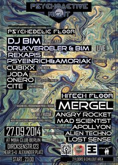 **Psychdelic Trance & HiTech on 2 Floors With Chill Out Area**  https://www.facebook.com/events/1451632318439938/  Am 27.9 ist es endlich wieder soweit.