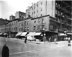 Bleecker and Christopher Streets. Greenwich Village 1925