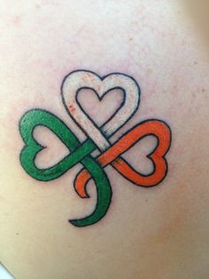 ireland flag tattoo