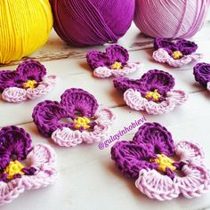 Menekşe motifi yapılışı #crochet