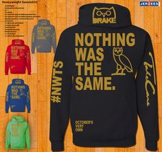 Hoodie - Nothing Was The Same - Drake on Etsy, $24.99