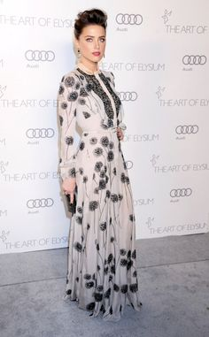 Amber Heard wore Valentino at the Art of Elysium Heaven Gala in Los Angeles