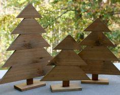 VENTA casa de árboles de Navidad madera por Laurasoriginals2