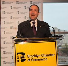 Carlo Scissura, president and CEO of the Brooklyn Chamber of Commerce, is pushing to get business improvement districts established in Park ...