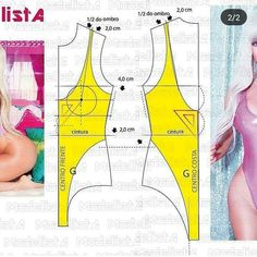 PDF sewing pattern one piece swimsuit for women Pdf Sewing Patterns, Clothing Patterns, Sewing Clothes, Diy Clothes, Underwear Pattern, Swimsuit Pattern, Modelista, Lingerie For Men, How To Make Clothes
