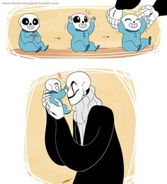 My aesthetic is fanart of baby bones Sans and or Papyrus doing cute family things with Papa bones Gaster