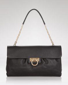 Salvatore Ferragamo Shoulder Bag - in black