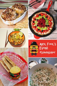 April Fool's Day Recipes - fooling around with food for #SundaySupper!