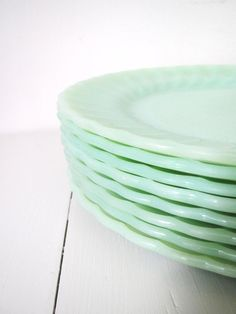 I love plates. I'd love to have some mint serving dishes or jars for my centerpieces (which are snacks)