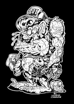Weirdo monster design for BR1 MONSTERS t-shirts.