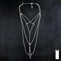 VITRAIL | Monika Kraczek  Unique silver necklace with labradorites.  Shop: www.monikakraczek.com