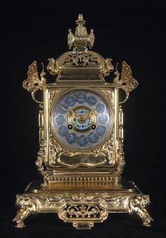 A French gilt metal and cloisonne mantel clock movement stamped Tiffany and Co., New York, and numbered 5552 late 19th century.