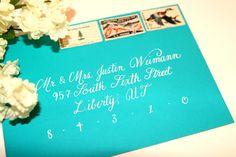 Wedding Calligraphy - Julie Script Hand Lettering Envelope Addressing.