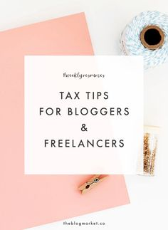 Tax Tips for Blogger