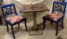 Americana table set from salvaged pieces restored and reloved.