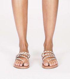 Patos Studded Flat Slide : Women's Sandals   ToryBurch.eu