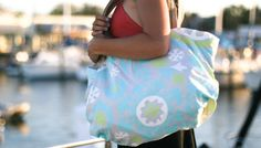 (c) mellowvelo tote bags that convert into a basket liner for bike or home