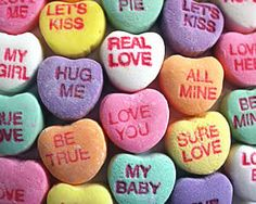 valentine heart candy sayings