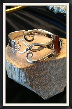Fork bracelet made from  vintage silverware  Heavy by Shecre8s, $35.00