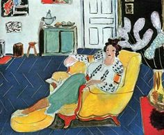 Henri Matisse, Young Girl with a Yellow Sofa