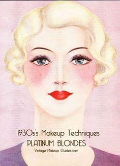 1930s Makeup Techniques – The Platinum Blonde Look.