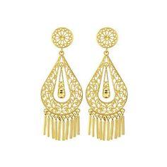 14k gold Gypsy Earrings, Dangle Earrings, Fancy Earrings, Diamond Cut Earrings