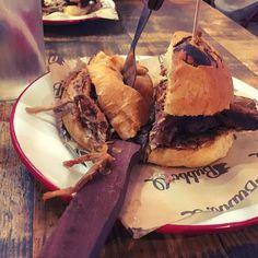 Food heaven. Half bbq pulled pork & half bbq beef brisket (we got one each and split them). Thanks @bubbaqedinburgh #bbq #food #goodfood #edinburgh #pulledpork #beefbrisket #bubbaq