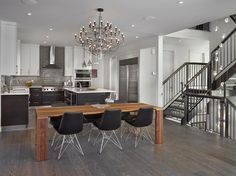 Stained & Painted Laquers - contemporary - kitchen - edmonton - Florkowskys Woodworking & Cabinets LTD